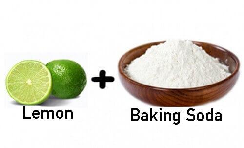 Làm trắng răng bằng Baking soda và chanh