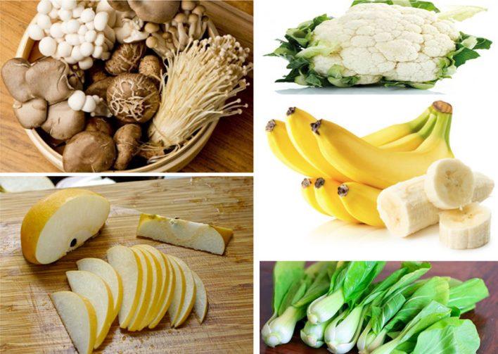 Trái cây rau củ cũng giúp cung cấp dinh dưỡng cho cơ thể và không ảnh hưởng đến màu sắc răng