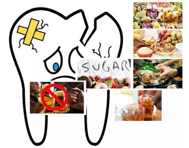 Chế độ ăn uống nhiều đường và tinh bột ngày một khiến răng yếu dần