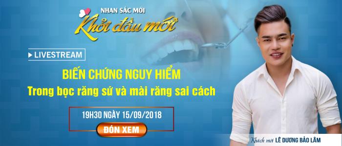 Diễn viên hài Lê Dương Bảo Lâm xuất hiện tại Livestream nha khoa JW