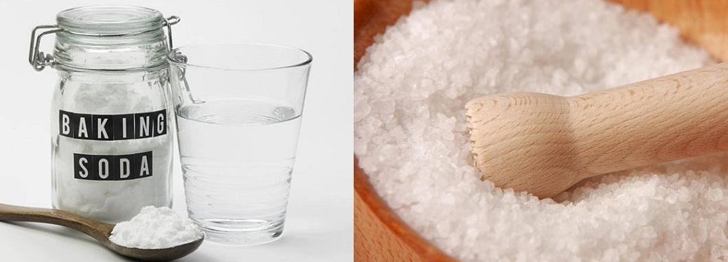 Hiệu quả cao khi bạn kết hợp baking soda và muối